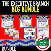 Executive Branch, Civics Mega Bundle, Government Mega Bundle, Civics and Government Curriculum, Anchor Charts, Games, Digital Interactive Notebook, Google Classroom, Word Wall, Choice Boards, Guided Notes, PowerPoints, Test Prep, Document Based Questions