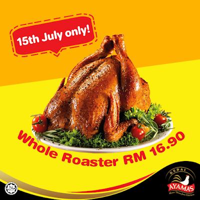 Kedai Ayamas Roasters RM16.90 Discount Offer Price