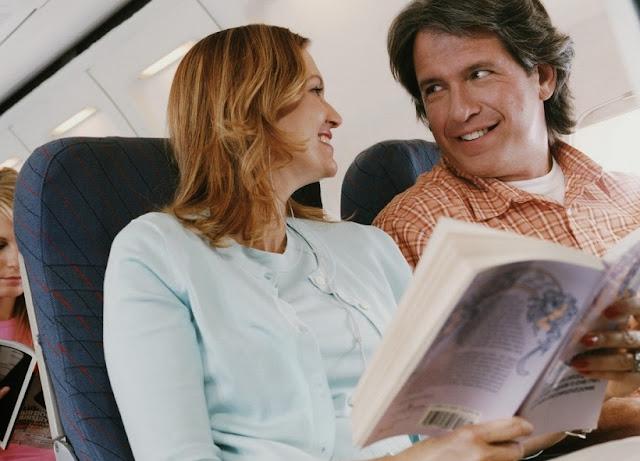 Leitura em um voo para Los Angeles