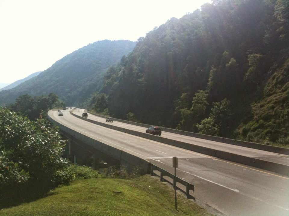 A highway through the hills.