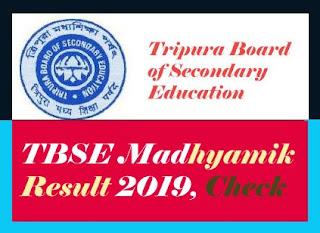 Tripura 10th Result 2019, Tripura Madhyamik Results 2019, TBSE 10th Result 2019