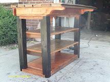 Handmade Rustic & Log Furniture Custom Kitchen Island