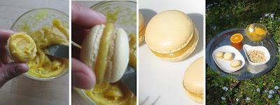 Zubereitung Macarons mit Orange Curd Füllung