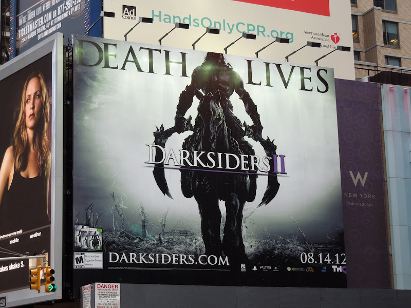 Darksiders 2 Death Lives game billboard