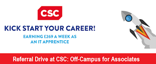 Referral Drive at CSC: Off-Campus for Associate Professionals On 30th Sept 2016