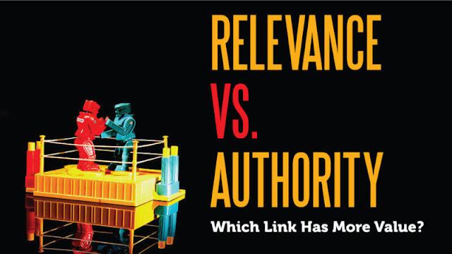 Relevance vs. authority
