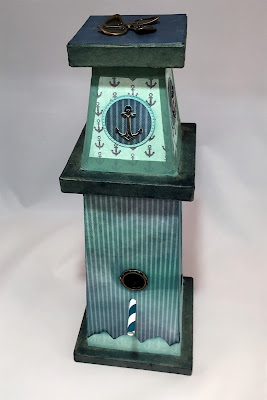 Nautical Bird House featuring the Anchors Aweigh Collection by Quick Quotes designed by Alicia O'Bryant