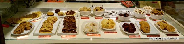 Vitrine de biscoitos da Biscoiteca, Copacabana