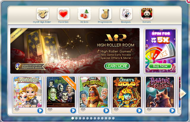 Jogos do myVEGAS Slots para Facebook.