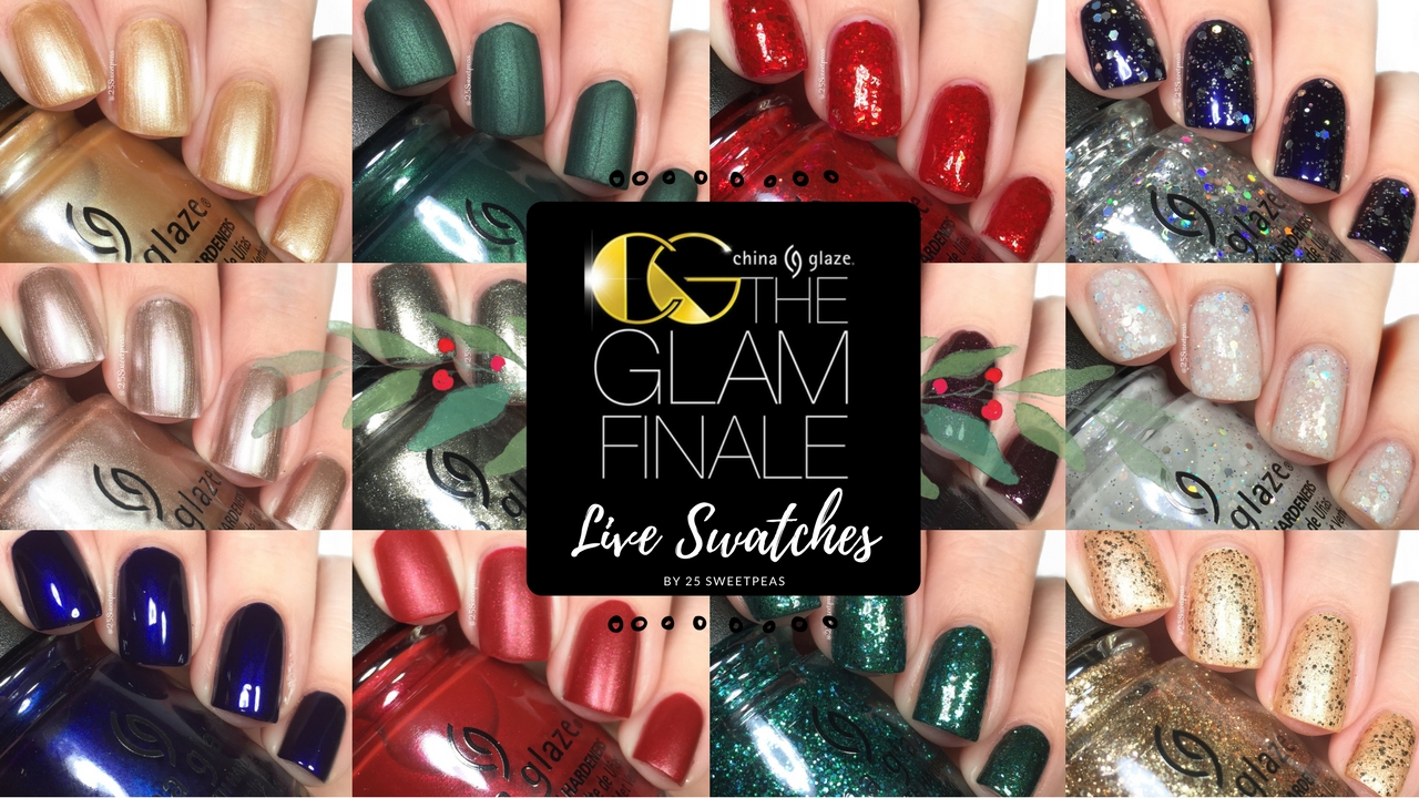 China Glaze Glam Finale Live Swatches