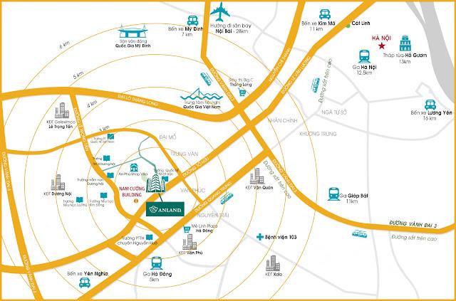 Vị trí Anland Complex - KĐT mới Dương Nội
