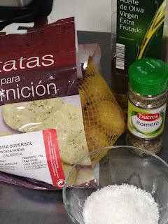 Patatas asadas al romero, ingredienters