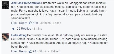 Kenapa Purdah Che Ta Dikecam Netizen?