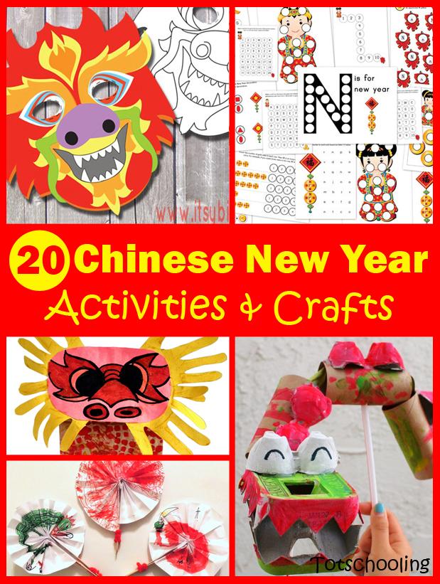 20 Chinese New Year Crafts Activities For Kids Totschooling Toddler Preschool Kindergarten Educational Printables