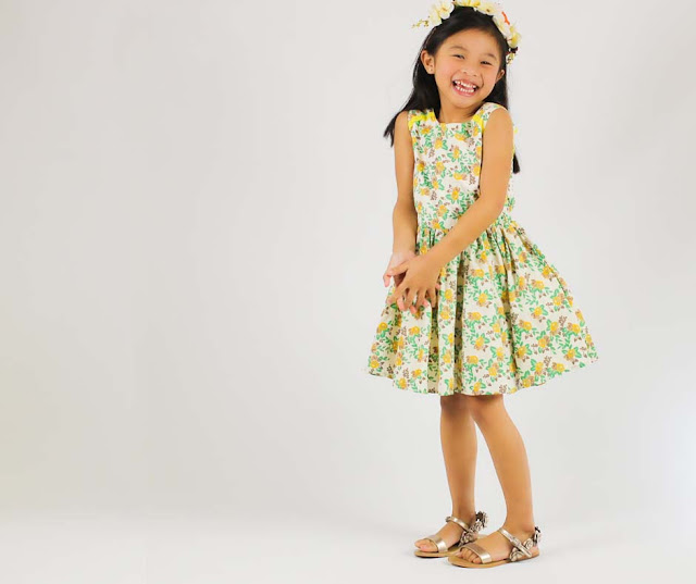 Siaomimi Lemon Yellow Floral Fit n' Flare Dress | Chichi Mary