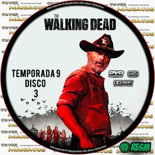 GALLETA 3 THE WALKING DEAD TEMPORADA 9 - 2018 [COVER DVD]