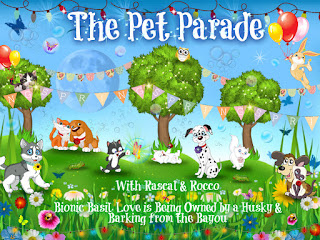 Pet Parade blog hop spring time badge