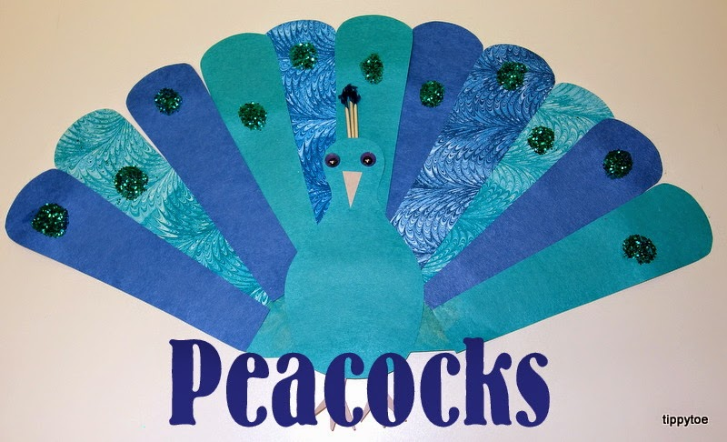 peacock craft ideas for kids tippytoe crafts pretty peacocks 7033