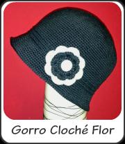 Gorro Cloché con Flor