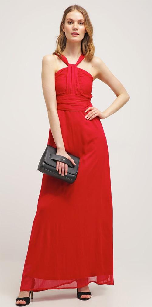 Robe longue de soirée rouge Anna Field