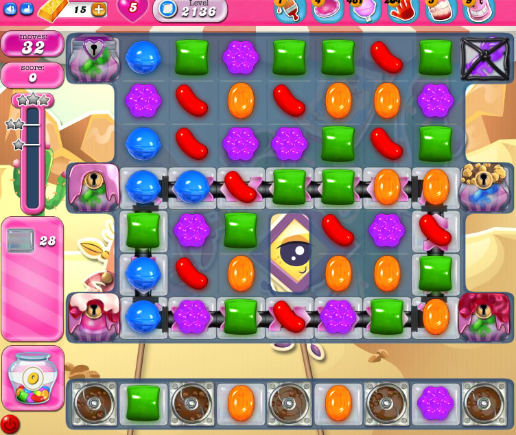 Candy Crush Saga level 2136