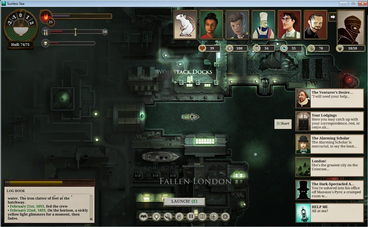 Trading sunless sea
