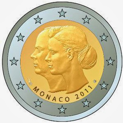 2 Euro Commemorative Coins Monaco 2011 wedding of Prince Albert Charlene Wittstock