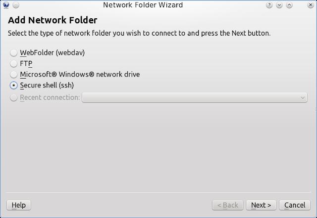 Akses Komputer Dengan Menggunakan SSH dan DOLPHIN