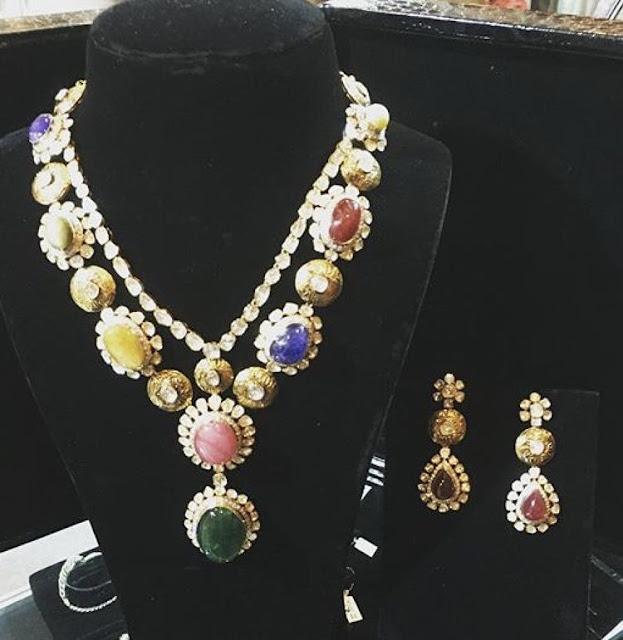 Exclusive Navaratan Stone set by Omprakash Jewellers