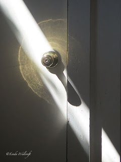 door knob with shadow