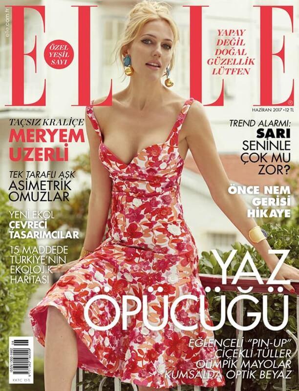 Meryem Uzerli a pozat pentru revista Elle