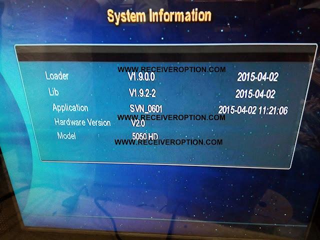 ECHOLINK 5050 HD RECEIVER DUMP FILE