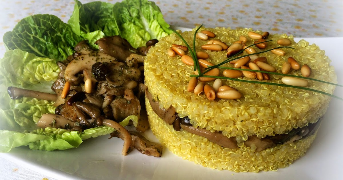 Zonavegetal quinoa con setas al ajillo - Setas cultivadas al ajillo ...