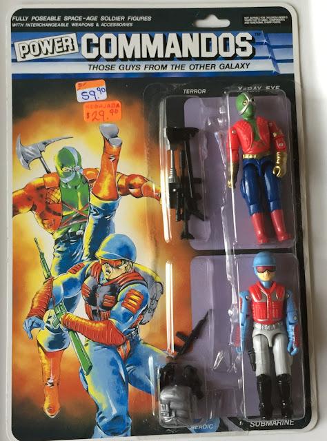 1992, Lucky Bell, Power Commandos, X Ray Eye, Submarine, MOC, Carded, Filecard