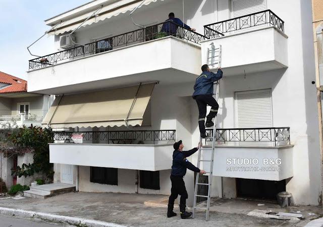 Επιχείρηση της πυροσβεστικής στο Ναύπλιο για παροχή βοήθειας σε ηλικιωμένη γυναίκα
