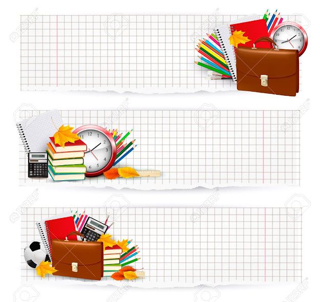 Back To School Two Banners With School Supplies Vector Stock Vector