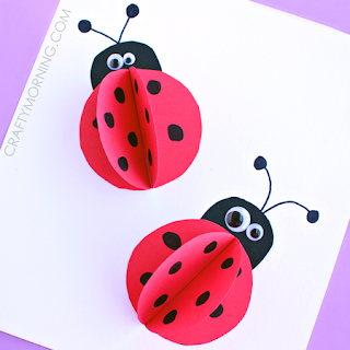 http://www.craftymorning.com/3d-paper-ladybug-craft-for-kids/