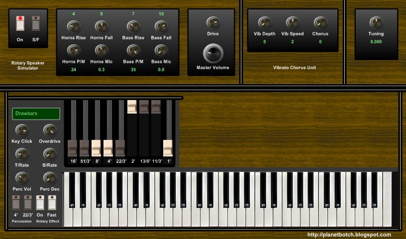 VSTX3 free virtual analogue 'clonewheel' VST organ