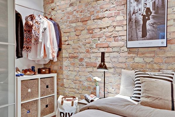parede tijolinho quarto