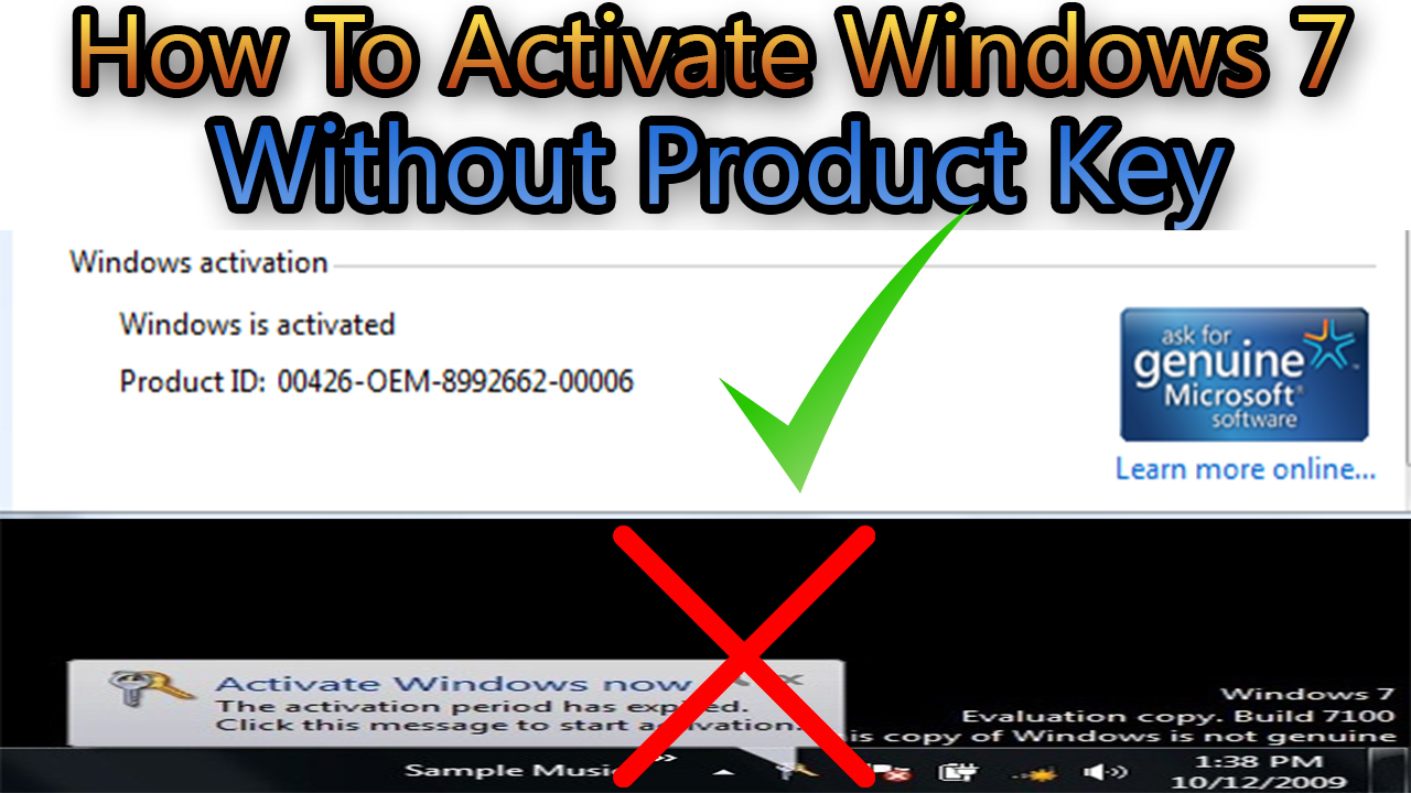 activate windows 7 without product key - Windows 7 loader