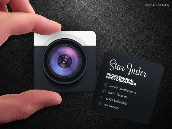 Creative photography business cards design the photo mag business card template accmission Images