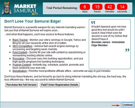 Panduan menggunakan market samurai 1
