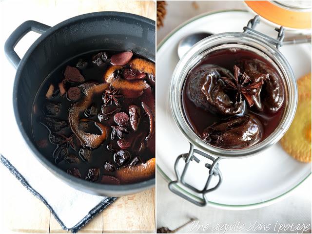 Pruneaux au vin rouge et aux épices