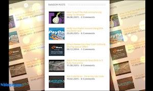 Random Post Widget With Thumbnails For Blogger