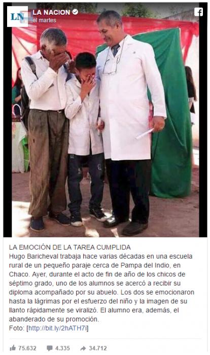 La graduación de un humilde niño que conmueve en Argentina