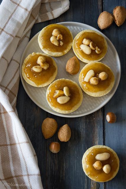 crostatine marmellata di fichi e noci