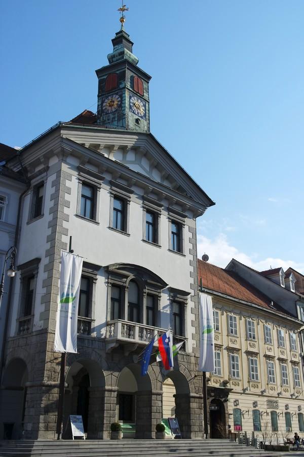 ljubljana Mestni trg hôtel de ville