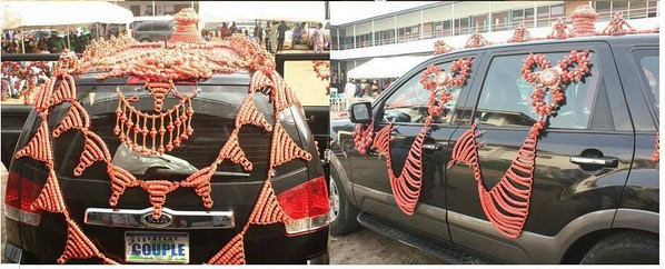 Check out traditional wedding car spotted in Benin