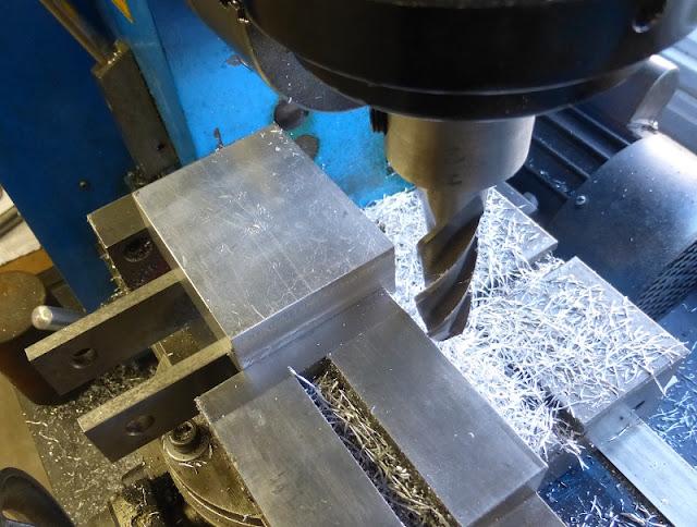 milling aluminum block square