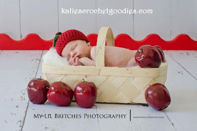 newborn apple crochet hat